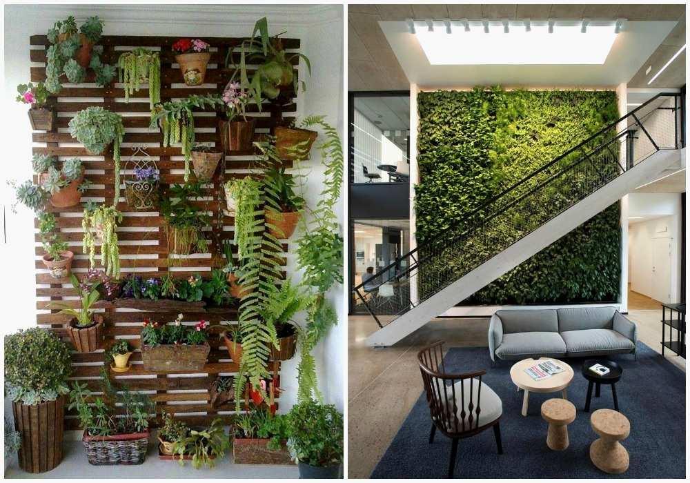 Como hacer jardines verticales para interiores forrar una - Jardines verticales interiores ...